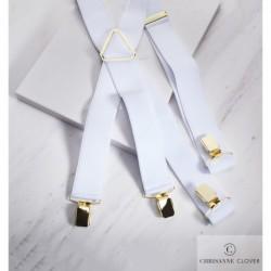 Szelki WHITE - srebrne elementy