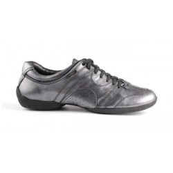 Buty codzienne PortDance PD CASUAL BLACK SILVER LEATHER
