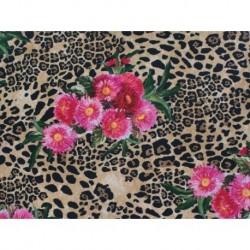 Floral Animal Print on lycra