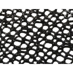 Tkanina siatkowa metallic abstract fish net BLACK
