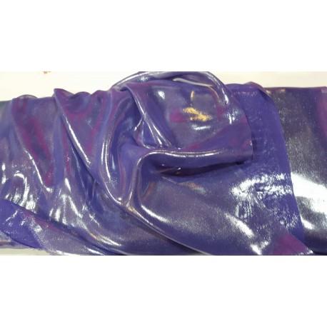 Georgette liquid Purple on Silver