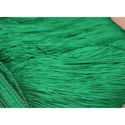Frędzle stretch fringe Tactel 15cm EMERALD