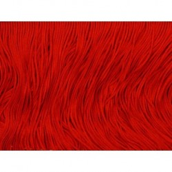 Frędzle stretch fringe Tactel 15cm RED