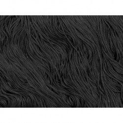 Frędzle stretch fringe Tactel 30cm BLACK