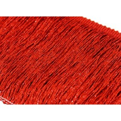 Frendzle fringe Tactel 30cm METALLIC RED