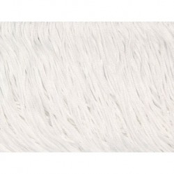 Frędzle fringe Tactel 45cm WHITE