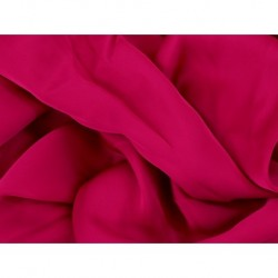 Satin Georgette CHERRY RED