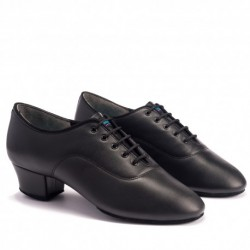 Buty chłopięce do łaciny RUMBA- BLACK CALF