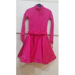Sukienka dwu-stylowa z koronką FUCHSIA