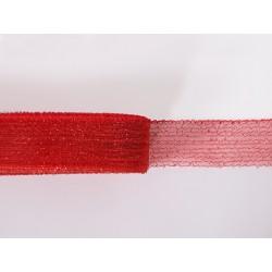 METALLIC CRINOLINE 40MM RED ON RED