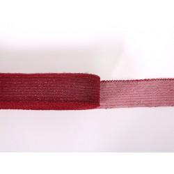 METALLIC CRINOLINE 40MM CHR-RED-CHR-RED