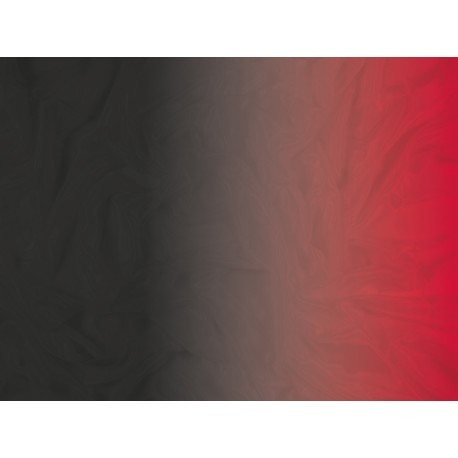 Cieniowany Satin Chiffon BLACK TO FLUORESCENT RED