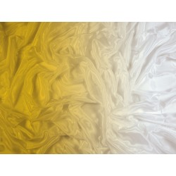 Cieniowany Satin Chiffon GOLD TO WHITE