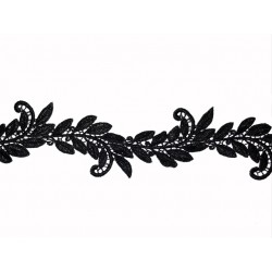 SYLVIE CROCHET RIBBON BLACK