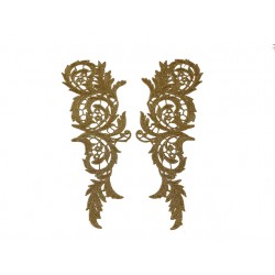 LUCILLE EMBROIDERED MOTIF GOLD