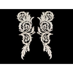 LUCILLE EMBROIDERED MOTIF SILVER