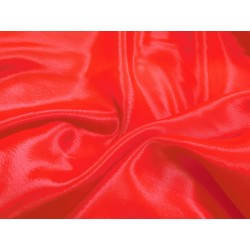 SATIN CHIFFON HOT RED