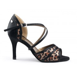 Buty damskie do tanga leopard PortDance PD506