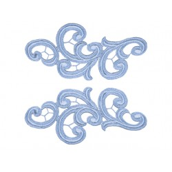 EMMA GUIPURE LACE MOTIF BLUEBELL