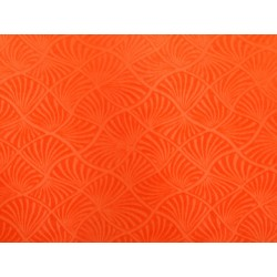 Seashells Burnout Velvet ORANGE