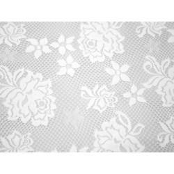 Koronka  Rose STRETCH LACE kolor WHITE