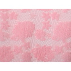 Koronka  Rose STRETCH LACE kolor SUGAR PINK