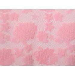 Koronka  Rose STRETCH LACE kolor SUGAR PINK
