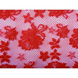 Koronka  Rose STRETCH LACE kolor RED