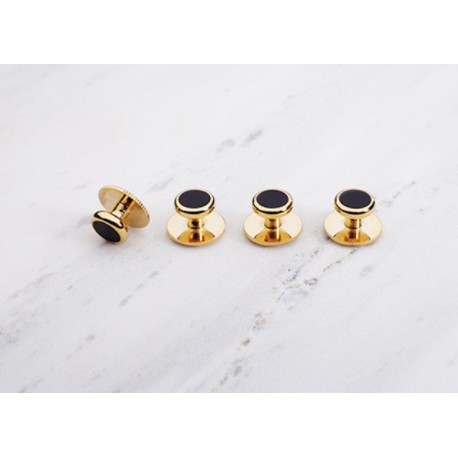 Spinki CC DRESS STUDS GOLD BLACK