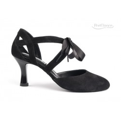 Buty damskie do tanga i salsy black nubuck leather PD125 Premium