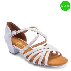 Buty dziewczęce do łaciny FLAVIA WHITE CALF- BIAŁE