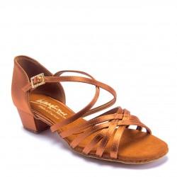 Buty dziewczęce do łaciny FLAVIA - TAN SATIN