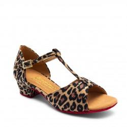 Buty dziewczęce do łaciny Bespoke Girls Katie - Leopard