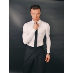 Koszula Smart - wysokie zapięcie guzików - biała