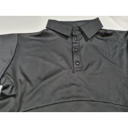 Koszula Smart - wysokie zapięcie guzików - czarna