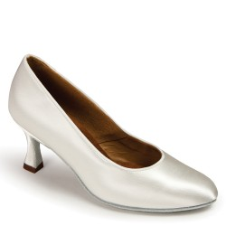 Buty damskie do standardu ICS ROUNDTOE WHITE SATIN ICS R/TOE