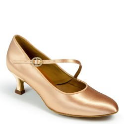 Buty damskie do standardu ICS ROUNDTOE SINGLESTRAP FLESH SATIN ICS RT S/STP DIA