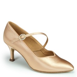 Buty damskie do standardu ICS SUPERSTAR SINGLESTRAP FLESH SATIN ICS SS S/STP