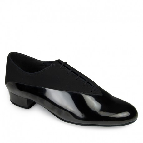 Buty męskie do standardu CLASSIC PINO - BLACK NUBUCK / BLACK PATENT