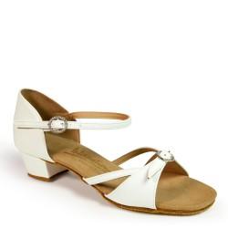 Buty dziewczęce do łaciny NATASHA - BIAŁE