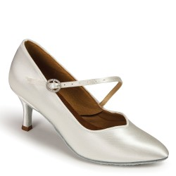 Buty damskie do standardu ICS SUPERSTAR SINGLESTRAP - WHITE SATIN ICS SS S/STP DIA
