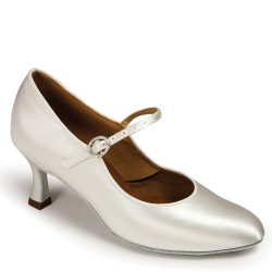 Buty damskie do standardu ICS CLASSIC - WHITE SATIN