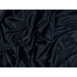 Stretch Satin BLK  -  BLACK