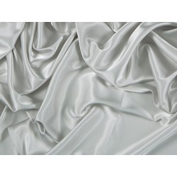 Stretch Satin SIL  -  SILVER