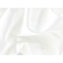 Stretch Satin WH  -  WHITE