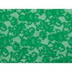 Koronka  Geometric STRETCH LACE kolor EMERALD