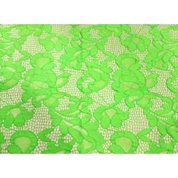 Koronka  Geometric STRETCH LACE kolor FLUORESCENT GREEN
