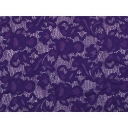 Koronka  Geometric STRETCH LACE kolor PURPLE RAIN