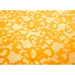 Koronka  Geometric STRETCH LACE kolor SAFFRON