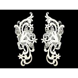 Gipiura Jasmine motif pair WHITE